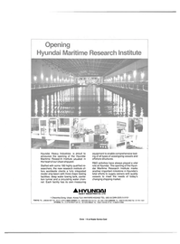 Maritime Reporter Magazine, page 3rd Cover,  Nov 15, 1984 Hyundai Maritime Research Institute