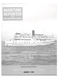 Maritime Reporter Magazine Cover Jan 1985 -