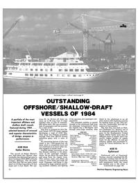 Maritime Reporter Magazine, page 14,  Jan 1985 oil and gas industry