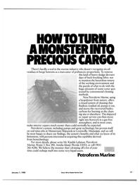 Maritime Reporter Magazine, page 15,  Jan 1985