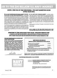 Maritime Reporter Magazine, page 11,  Jan 15, 1985 Department of Defense