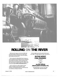 Maritime Reporter Magazine, page 15,  Jan 15, 1985 Kill Irani MlulhMiuiiiinill inn MWiiiuniiiHutunUyij lis* ROLLING THE RIVER Alpha