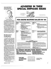 Maritime Reporter Magazine, page 9,  Feb 15, 1985 New York