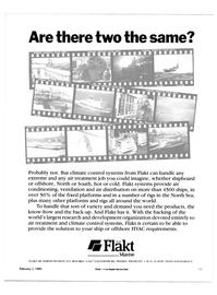Maritime Reporter Magazine, page 23,  Feb 15, 1985 Marine FLAKT AB