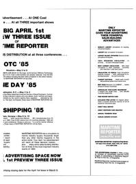 Maritime Reporter Magazine, page 27,  Feb 15, 1985
