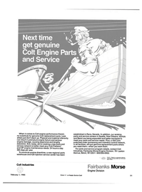 Maritime Reporter Magazine, page 31,  Feb 15, 1985 order processing
