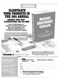 Maritime Reporter Magazine, page 50,  Feb 15, 1985