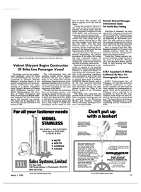 Maritime Reporter Magazine, page 9,  Mar 1985 Curtis Bay Towing