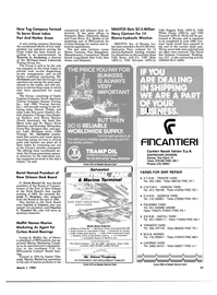 Maritime Reporter Magazine, page 39,  Mar 1985