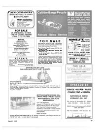 Maritime Reporter Magazine, page 53,  Mar 1985 Louisiana