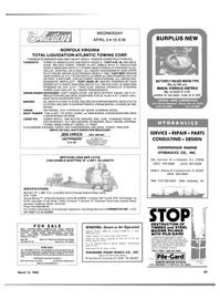Maritime Reporter Magazine, page 37,  Mar 15, 1985 California