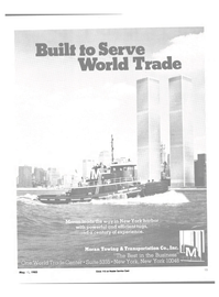 Maritime Reporter Magazine, page 13,  May 15, 1985 World Trade Center