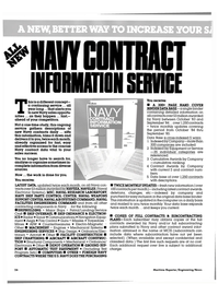 Maritime Reporter Magazine, page 22,  May 15, 1985 NAVY CONTRACT INFORMATION SERVICE