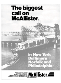 Maritime Reporter Magazine, page 1,  May 15, 1985 McAllister Brothers Inc.
