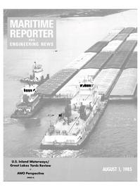 Maritime Reporter Magazine Cover Aug 1985 -
