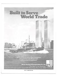 Maritime Reporter Magazine, page 11,  Aug 1985 World Trade Center