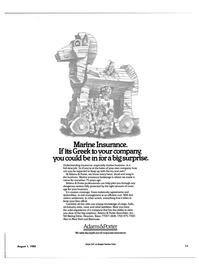 Maritime Reporter Magazine, page 15,  Aug 1985 Marine insurance brokerage