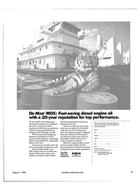 Maritime Reporter Magazine, page 27,  Aug 1985 diesel engine oil