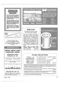 Maritime Reporter Magazine, page 55,  Aug 1985 California