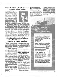 Maritime Reporter Magazine, page 7,  Aug 1985 heat transfer