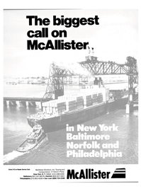 Maritime Reporter Magazine, page 1,  Aug 15, 1985 Reader Service Card McAllister Brothers Inc.