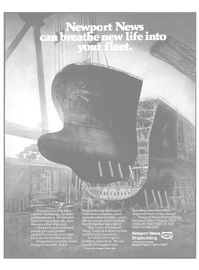 Maritime Reporter Magazine, page 31,  Aug 15, 1985 Newport News shipbuilding