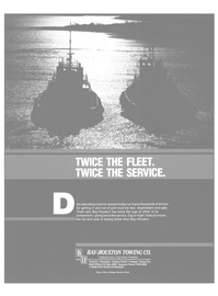 Maritime Reporter Magazine, page 23,  Sep 1985 B BAY-HOUSTON TOWING CO.