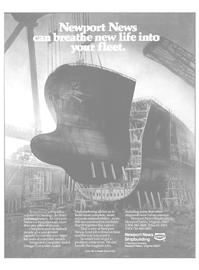 Maritime Reporter Magazine, page 4th Cover,  Sep 1985 Newport News shipbuilding