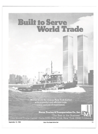 Maritime Reporter Magazine, page 9,  Sep 15, 1985 World Trade Center