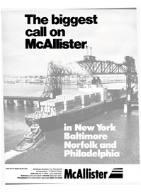 Maritime Reporter Magazine, page 1,  Sep 15, 1985 Reader Service Card McAllister Brothers Inc.