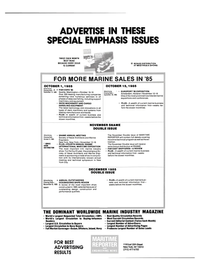 Maritime Reporter Magazine, page 3rd Cover,  Sep 15, 1985 manufacturing companies exhibiting