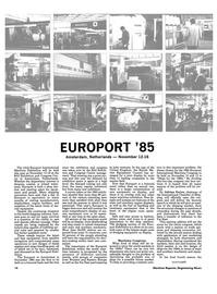 Maritime Reporter Magazine, page 12,  Oct 15, 1985 Maritime Congress