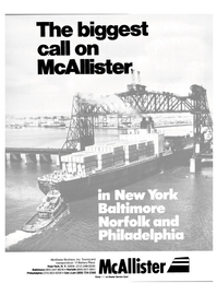Maritime Reporter Magazine, page 1,  Oct 15, 1985 McAllister Brothers Inc.