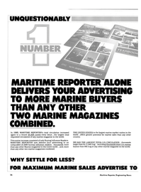 Maritime Reporter Magazine, page 34,  Oct 15, 1985 United States