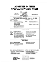 Maritime Reporter Magazine, page 44,  Oct 15, 1985 manufacturing companies exhibiting