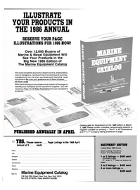 Maritime Reporter Magazine, page 3rd Cover,  Oct 15, 1985 printing