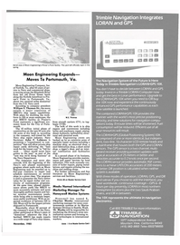 Maritime Reporter Magazine, page 9,  Nov 1985 Navy Department