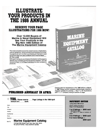 Maritime Reporter Magazine, page 116,  Nov 1985 printing