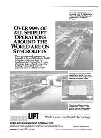 Maritime Reporter Magazine, page 4th Cover,  Nov 1985 United Kingdom