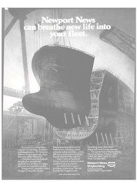 Maritime Reporter Magazine, page 11,  Nov 1985 Newport News shipbuilding