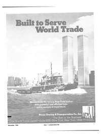 Maritime Reporter Magazine, page 15,  Nov 1985 Noran Towing & Transportation Co. Inc.