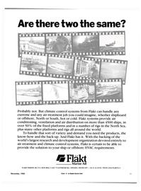 Maritime Reporter Magazine, page 19,  Nov 1985 H Flakt Marine AB