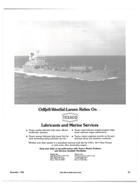 Maritime Reporter Magazine, page 21,  Nov 1985 Services Available Worldwide