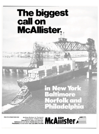 Maritime Reporter Magazine, page 1,  Nov 1985 Reader Service Card McAllister Brothers Inc.