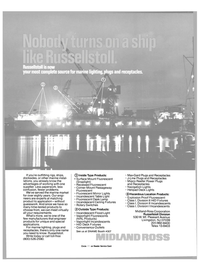 Maritime Reporter Magazine, page 42,  Nov 1985 Surface Mount Fluorescent (Snaplight)
