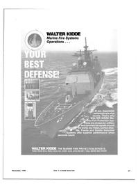Maritime Reporter Magazine, page 51,  Nov 1985 WALTER KIDDE Marine Fire Systems
