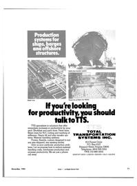 Maritime Reporter Magazine, page 65,  Nov 1985