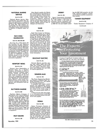 Maritime Reporter Magazine, page 67,  Nov 1985 Corrosion Protection