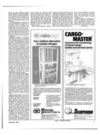 Maritime Reporter Magazine, page 81,  Nov 1985