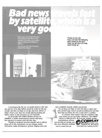 Maritime Reporter Magazine, page 2nd Cover,  Dec 1985 satellite communications network